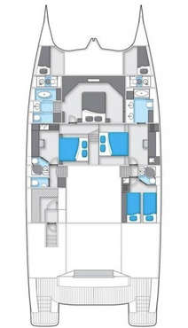 Plan catamaran Sunreef 70