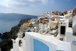 Paysage merveilleux de Santorin
