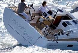 Virement de bord sur le voilier Hanse 415
