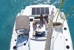 Catamaran Sanya 57 en navigation en Corse